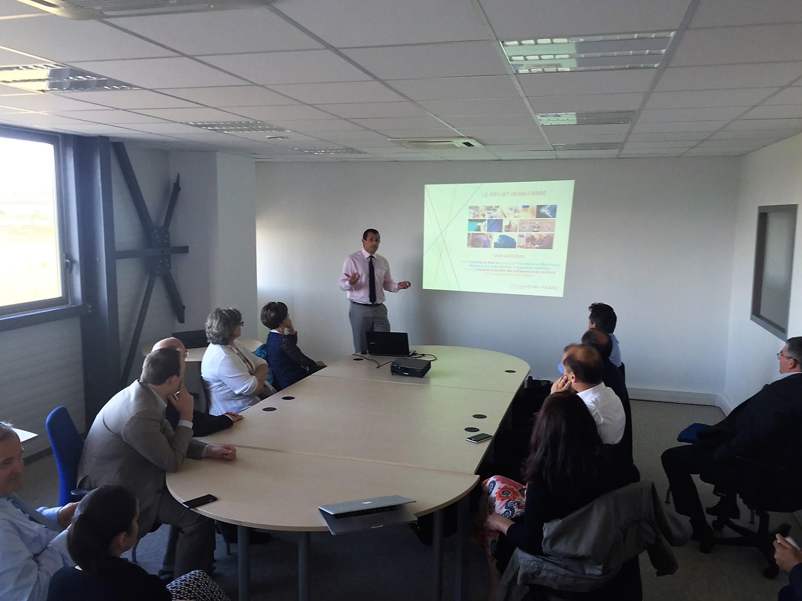 Rencontre : Des PME viennent découvrir le Technocentre Henri-Fabre