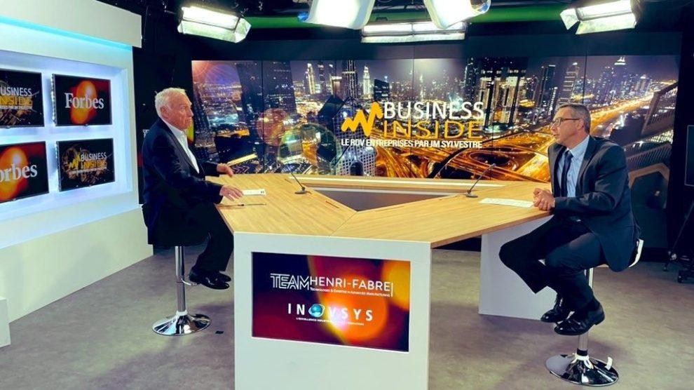 Stéphane MAGANA, à la tête de la TEAM Henri-Fabre et d'Inovsys, sur le plateau de Business Inside